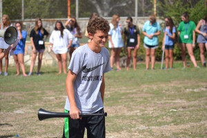 """Sophomore J. Reilly Kight recieves the """"Mo Dutch"""" award at the Mo Ranch award ceremony on Sept. 8."""